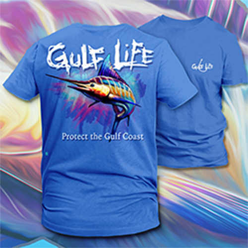 Gulf Life - Protect The Gulf Coast - Distressed Marlin