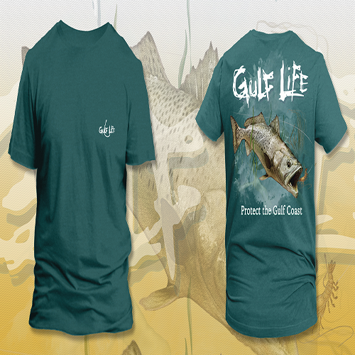 Gulf Life - Protect The Gulf Coast - Sail Boat Salmon