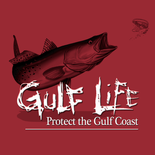 Gulf Life - Protect The Gulf Coast - Speckled Trout B&W